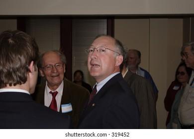 US Senator Ken Salazar, (D), Colorado, at the opening of his local office in Colorado Springs, CO, May, 2005