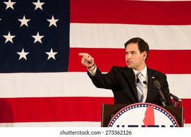 U.S. Senator Marco Rubio, Republican of Florida, speaks in Nashua, New Hampshire, USA, on April 18, 2015.
