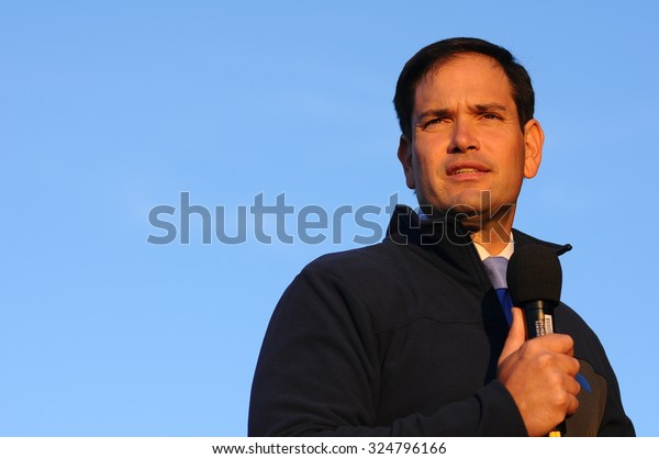 U.S. Senator Marco Rubio, Republican of Florida, speaks in Bedford, New Hampshire, on October 6, 2015.