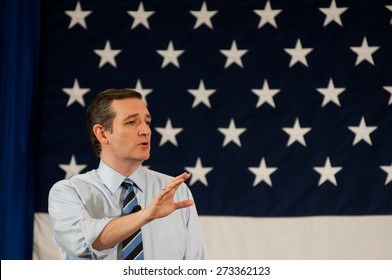 U.S. Senator Ted Cruz, Republican of Texas, speaks in Nashua, New Hampshire, USA, on April 18, 2015.