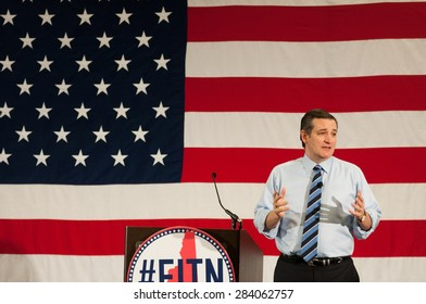 U.S. Senator Ted Cruz, Republican of Texas, speaks at the First in the Nation Leadership Summit in Nashua, New Hampshire, on April 18, 2015.