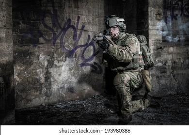 Licensed Combat Infantry Cap 495-BLK