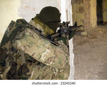 US Special Forces Soldier in combat action. See more military pictures in my gallery