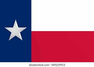 US State Background: 3d illustration of Texas Flag