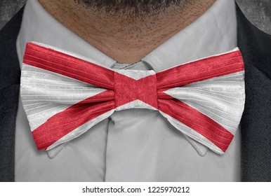 US state Flag of Alabama on bowtie business man suit