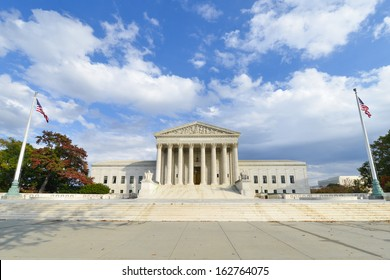 U.S. Supreme Court in Autumn - Washington DC, United Sates