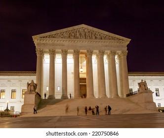 US Supreme Court Capitol Hill Night Stars Washington DC