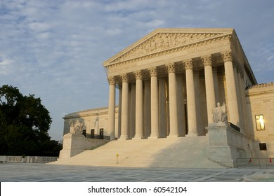US Supreme Court at sunset. Summer 2010.