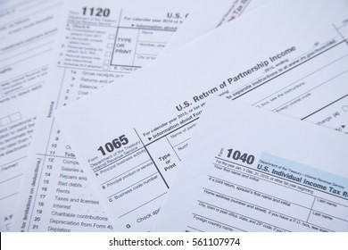 US tax form background