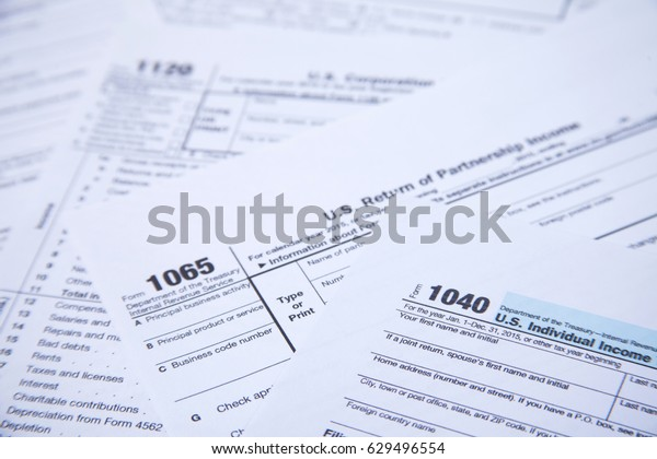 Us Tax Form Background Stock Photo (Edit Now) 629496554