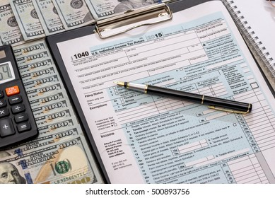 us tax form with money