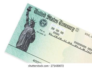US treasury check.