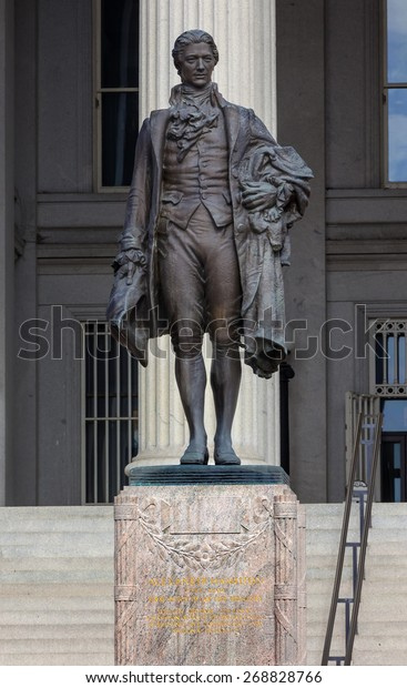 Us Treasury Department Alexander Hamilton Statue Stock Photo Edit