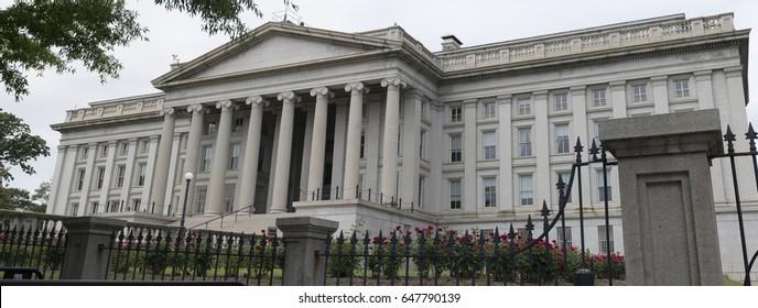 US Treasury Department building large panoramic