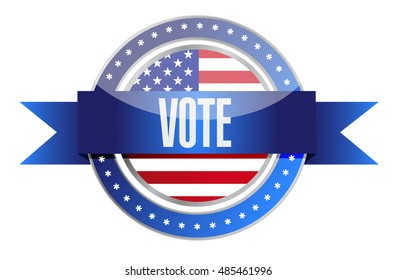 us vote seal illustration design graphic over white