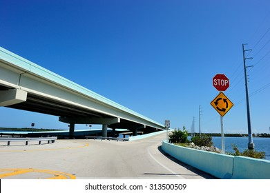 US1 highway to Key West, Florida, USA