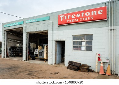 US-36, Anton, CO, - August,2018: Firestone Car Tires repair and maintenance on Highway 36 in Colorado, United States.