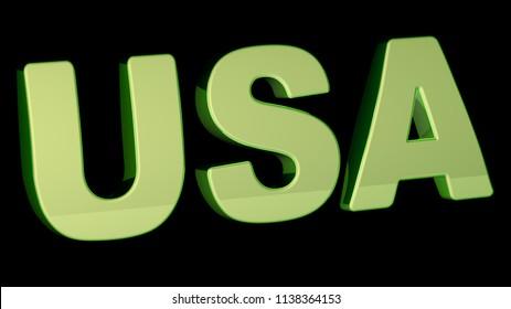 USA. 3D Illustration.