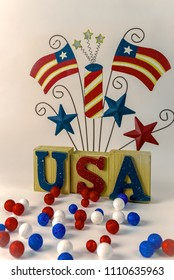 USA 4th of July concept decor