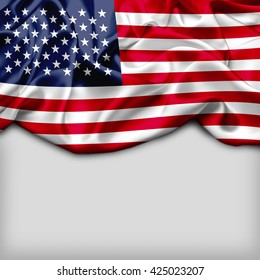 USA Abstract flag and Plain background