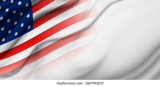 USA or america flag background with copy space