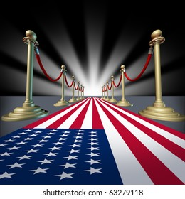 U.S.A. American Red blue white carpet Hollywood premier grand opening movie star festival