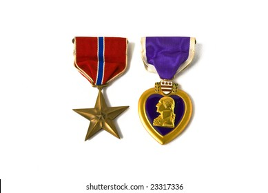 USA army medals for valor and wounds from active combat