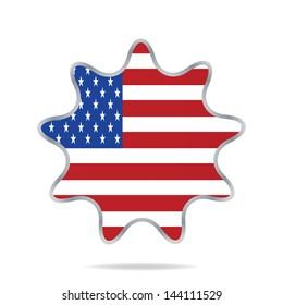 USA banner design set,  illustration.