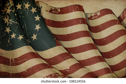 USA Betsy Ross Old Paper