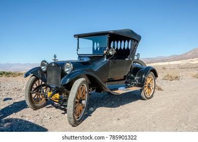 USA, CA, DEATH VALLEY - CIRCA NOV 2008 - Death Valley 49ers Antique Cars, Dodge.