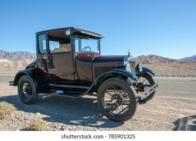 USA, CA, DEATH VALLEY - CIRCA NOV 2008 - Death Valley 49ers Antique Cars, Ford