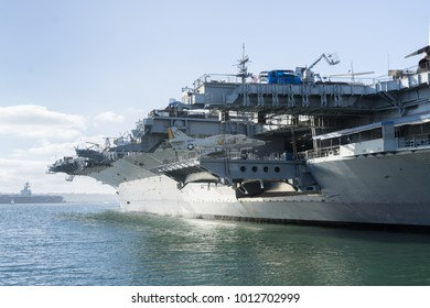 USA, CA - OCT 22, 2016 - USS Midway aircraft carrier at San Diego