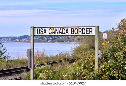 USA and Canada Border Post