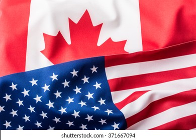 USA and Canada flag.