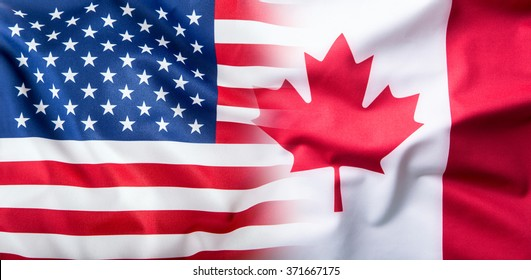 USA and Canada flag.