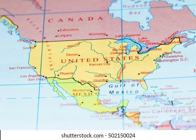 Map of United States Rivers Stock Photos, Images & Photography ...