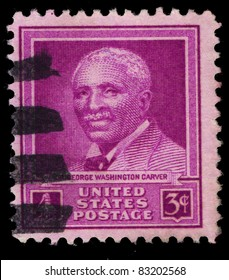 USA - CIRCA 1948 : A stamp printed in the USA shows Dr George Washington Carver, circa 1948