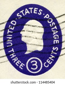 USA - CIRCA 1950: A stamp printed in USA shows President George Washington, circa 1950