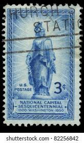 USA - CIRCA 1950 : A stamp printed in the USA shows National Capital Sesquicentennial, Washington, circa 1950