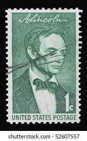 USA - CIRCA 1950s: A stamp printed in the USA showing president Abraham Lincoln, circa 1950s