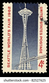 USA - CIRCA 1962 : A stamp printed in the USA shows Seattle world's fair 1962, circa 1962