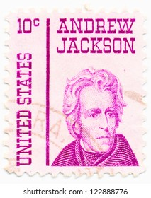 USA - CIRCA 1967: A stamp printed in USA shows portrait of Andrew  Jackson (1767-1845) a 7st President of the United States, circa 1967