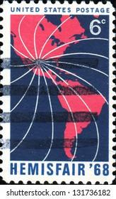 USA - CIRCA 1968: A stamp printed in the United States of America dedicated Hemisfair'68, circa 1968