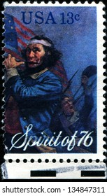 USA - CIRCA 1976: A  stamp printed in United States of America dedicated bicentennial, Spirit of 76, circa 1976
