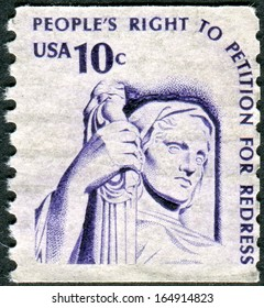 USA - CIRCA 1977: A postage stamp printed in USA, shows Contemplation of Justice by James Earle Fraser, circa 1977