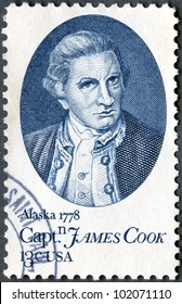 USA -CIRCA 1978: printed in USA shows Capt. James Cook, by Nathaniel Dance, 200th anniv. arrival in Hawaii, Jan. 20, 1778, and anchorage in Cook Inlet, near Anchorage, Alaska, June 1, 1778, circa 1978