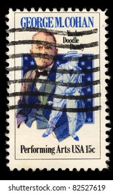 USA - CIRCA 1978 : A stamp printed in the USA shows George M. Cohan portrait, Performing Arts, circa 1978