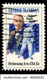 USA - CIRCA 1978 : A stamp printed in the USA shows George M. Cohan, Performing Arts, circa 1978