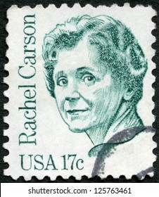 USA - CIRCA 1981: A stamp printed in USA shows Rachel Louise Carson (1907-1964), circa 1981