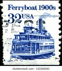 USA - CIRCA 1995: A stamp printed in United States of America shows Ferryboat 1900s, Circa 1995